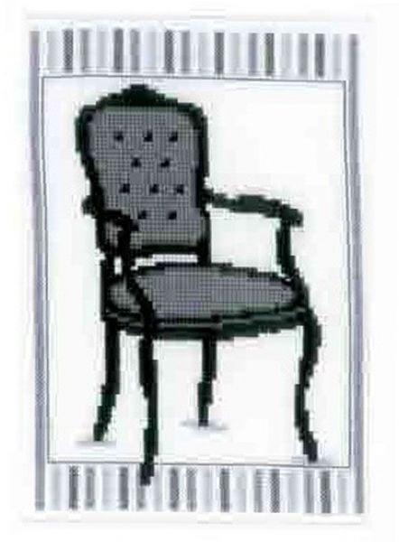 Barok Chair l  Cross Stitch Kit